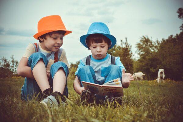 boys, children, reading