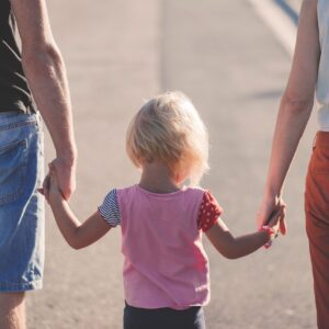 family, holding hands, parents
