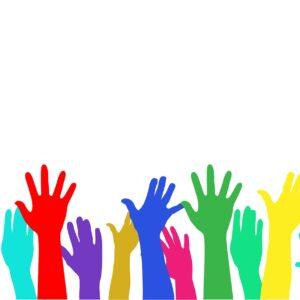 hands, raised, raised hands